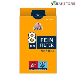 Gizeh Feinfilter mit Aktivkohle 8mm