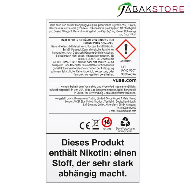 Vuse-ePod-Caps-Original-Strawberry-18-mg-rückseite