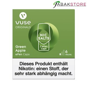 Vuse-ePen-Caps-Green-Apple-6-mg