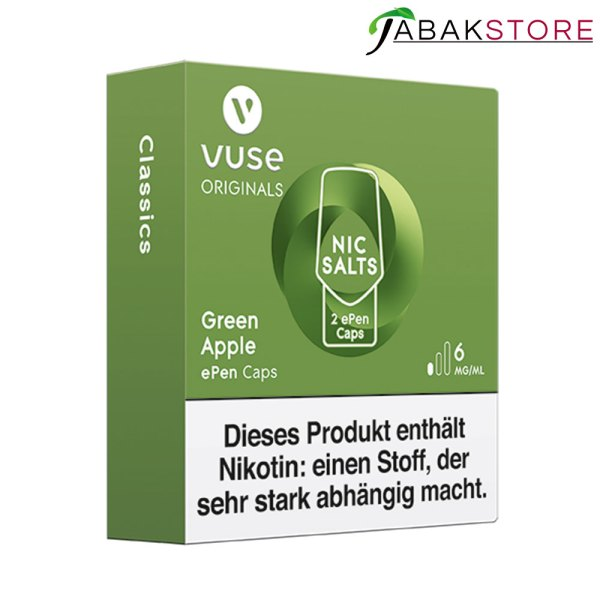 Vuse-ePen-Caps-Green-Apple-6mg-links-seitlich