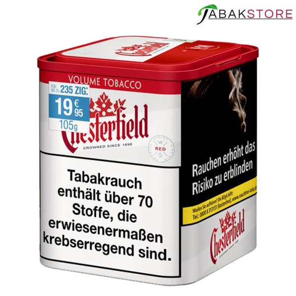 Chesterfield-Stopftabak-Red-mit-105-gr.-Tabak-zu-19,95-Euro
