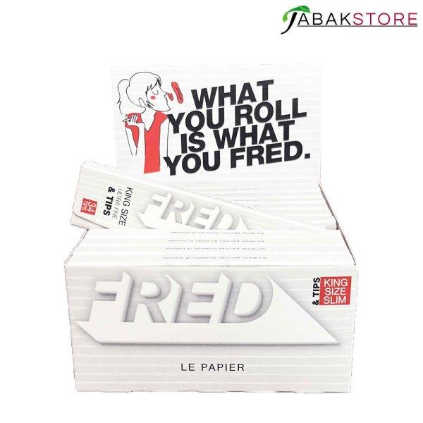Fred-King-Size-Blättchen-mit-Tips-im-Display