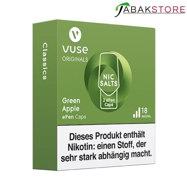 Vuse-epen-caps-green-apple-18-mg-links-seitlich