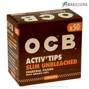 OCB-Activ-Tips-Slim-Unbleached-50er-Packung