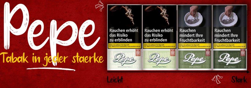 Pepe-Tabak-sortiert-von-Leicht-bis-Stark