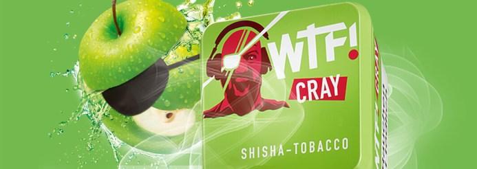 WTF Shisha Tabak Sorte Cray mit einem Apfel drauf