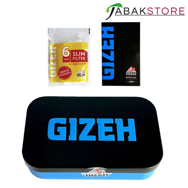 Gizeh-Zigarettenbox-Blau