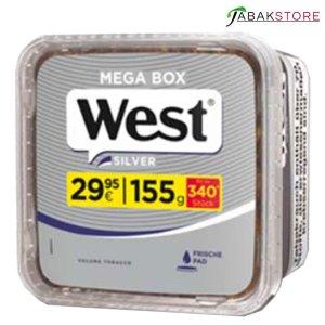 West Silver Mega Box im Eimer Tabak
