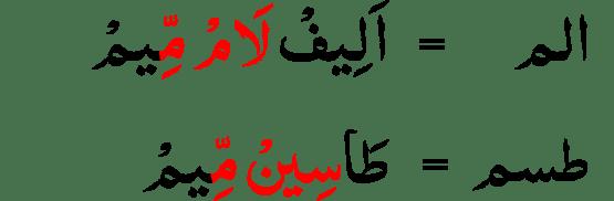 contoh Mad Lazim Harfi Musyabba