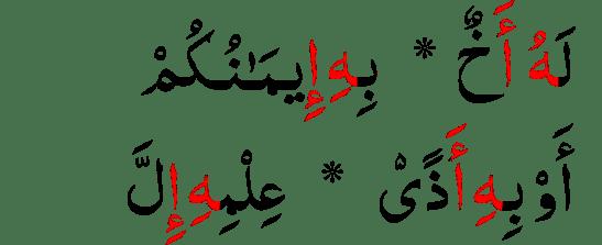 contoh Mad Shilah Thawilah