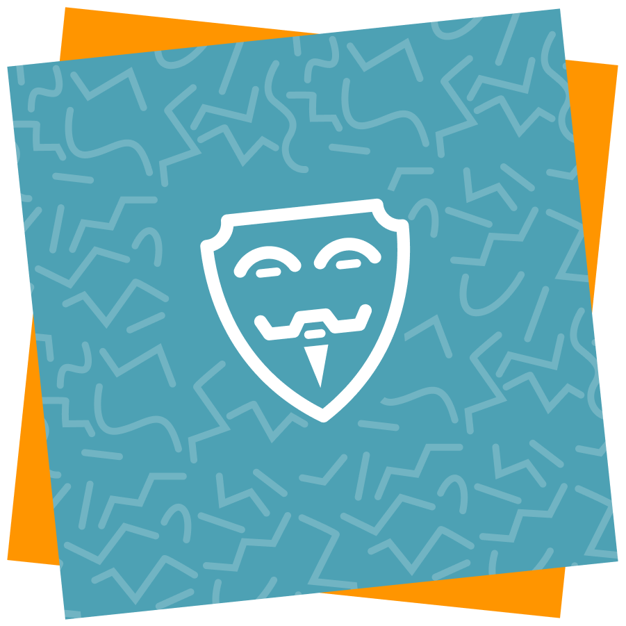 Illustration of a Guy Fawkes mask
