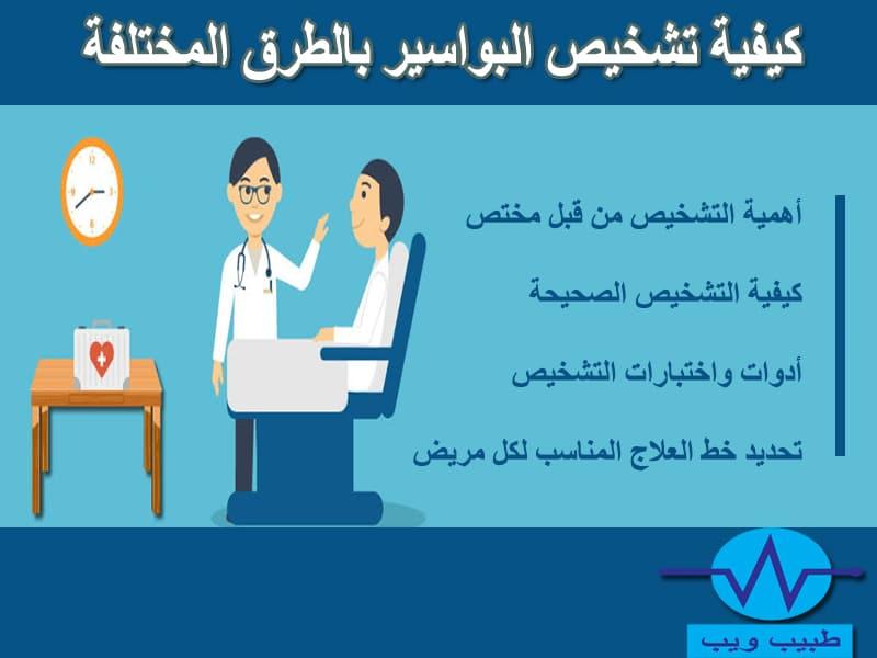 كيفية تشخيص البواسير بالطرق المختلفة