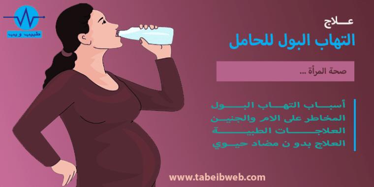 علاج التهاب البول للحامل طبيب ويب