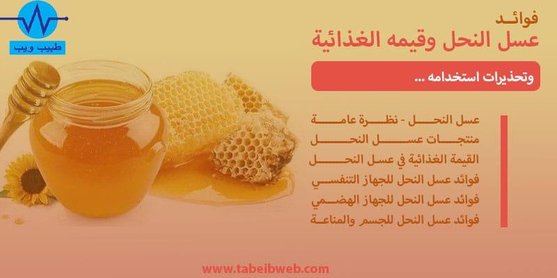 فوائد عسل النحل وقيمه الغذائية وتحذيرات