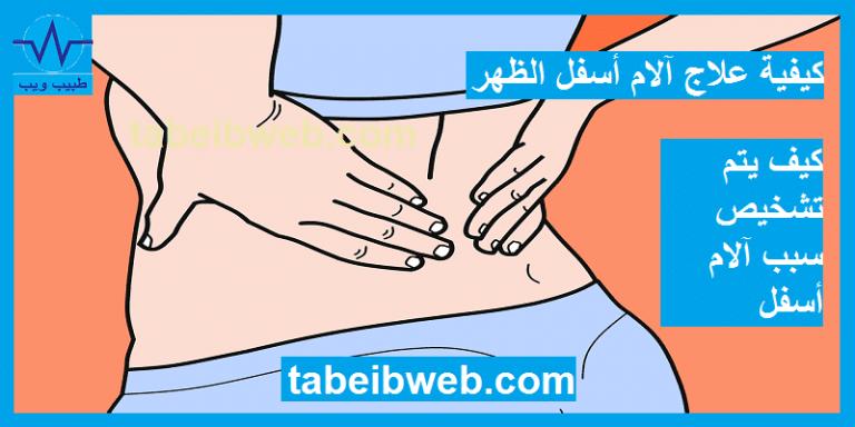 كيفية علاج آلام أسفل الظهر