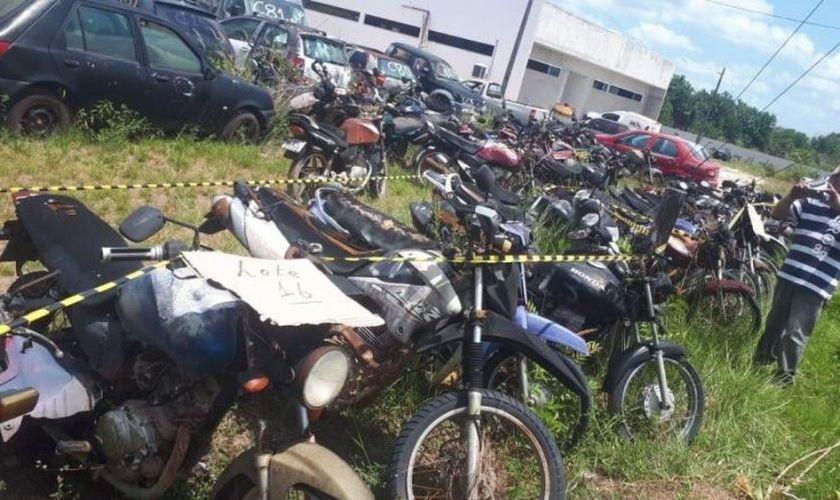 Leilão da PRF tem mais de 100 motos, lances variam de R$ 200 a R$ 2,5