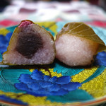 甘味処たかね - 「道明寺桜餅」 2015年3月