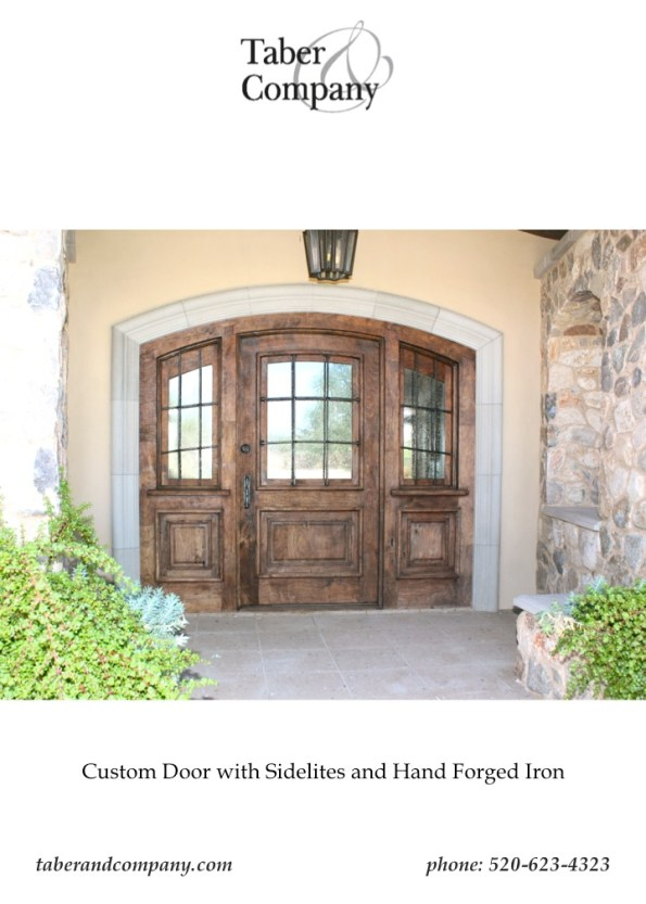 Mesquite WoodEntry Door Sidelite Glass Arizona