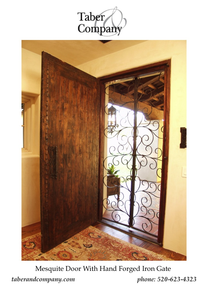 ... Taber U0026 Company Custom Front Door With Forged ...