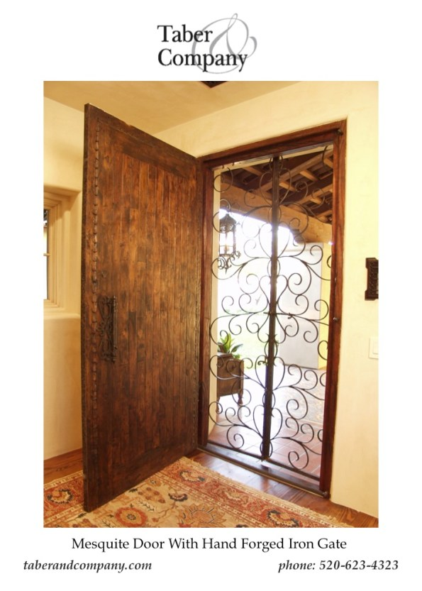 Taber & Company Custom Front Door with Forged Iron
