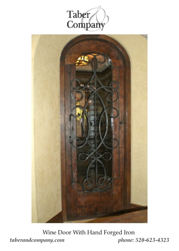 Door Wine Cellar With Iron and Glass