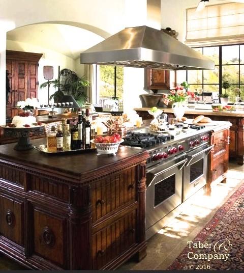 Handcrafted Custom Wood Kitchen Islands, wood countertop, wood furniture style kitchen islands custom high end kitchen mediterranean tuscan style