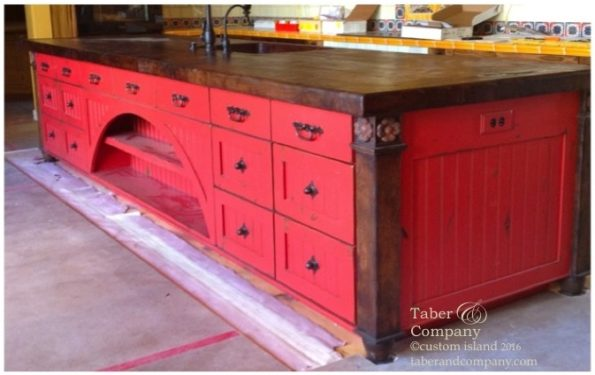 mesquite countertop red paint islans
