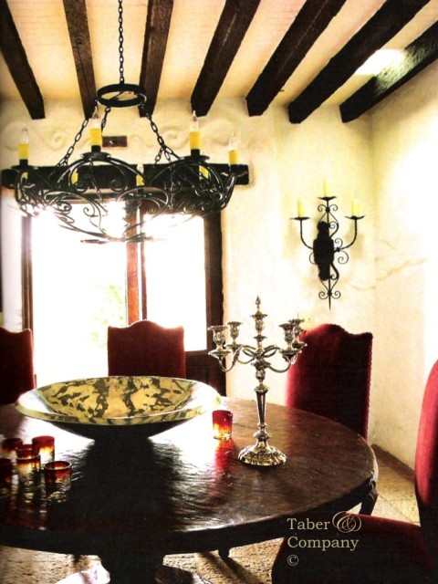 "Spanish Colonial Furniture. Spanish Style Phoenix Home & Garden ""Mexican Design and Architecture"" Furnishings and Iron designed and crafted by Taber & Company"