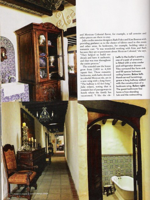 Spanish Colonial Spanish style furniture Old World furniture, cabinetry, doors built by taber & company