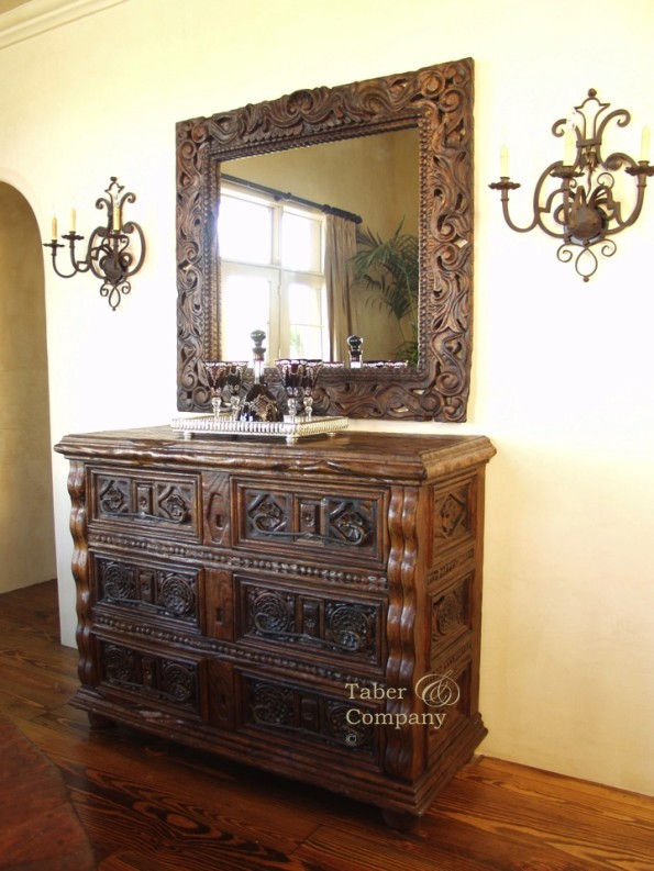Hand Carved Spanish Mediterranen Style Furniture