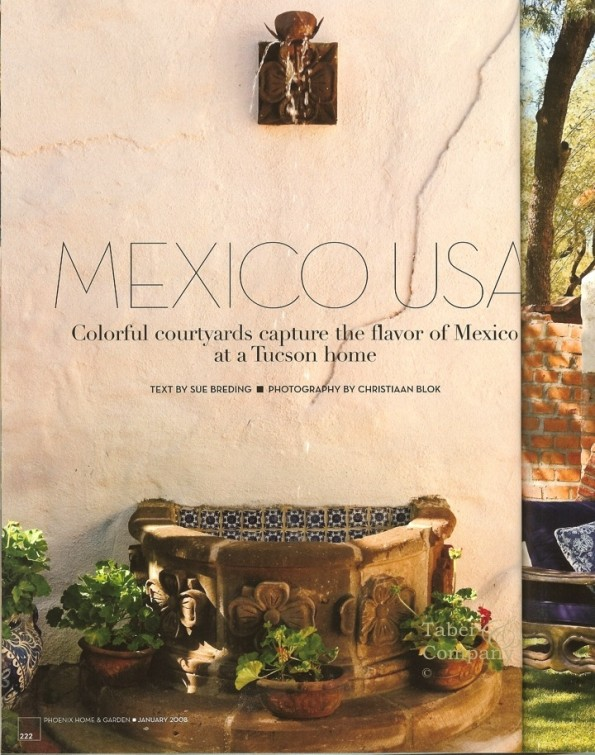 Spanish Hacienda Style Furniture and Architecture