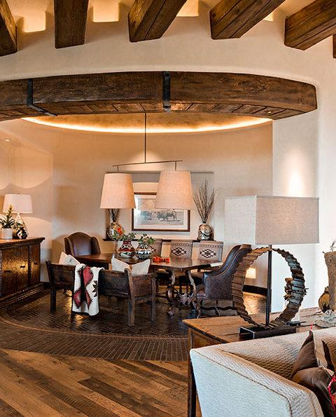 custom dining room rustic southwest adobe