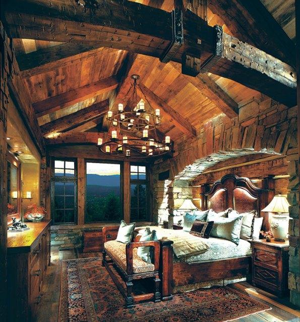 custom designed bedroom furniture for a luxury Montana home.