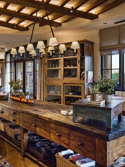 wood kitchen island. wood countertop