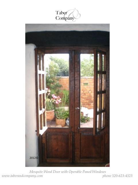 wood dutch doors with operable windows. Wooden double doors with opera windows.