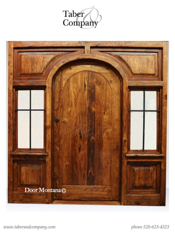 "massive wood entry arched door with windows. 96"" wooden entry door with sidelights."