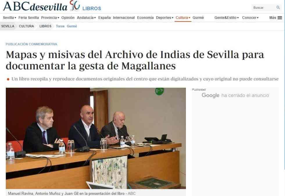 Mapas y misivas del Archivo de Indias de Sevilla para documentar la gesta de Magallanes