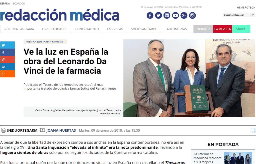 Prensa. Thesaurus de remedis secretiis