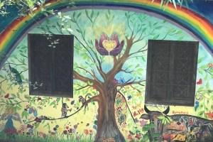 ほのぼのする壁の絵