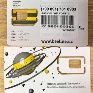 UZのSIMカード