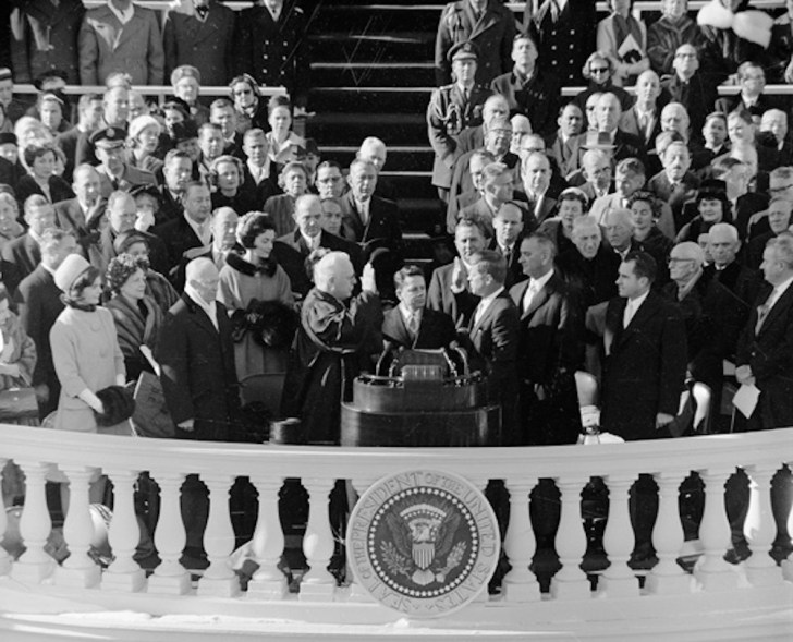 ジョン・F・ケネディ大統領の就任式(1961年)