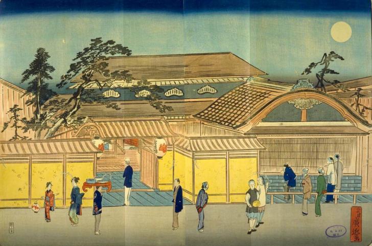 横浜岩亀楼之図