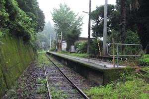 新改駅(スイッチバック駅)