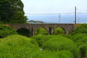 めがね橋(明智川拱橋)