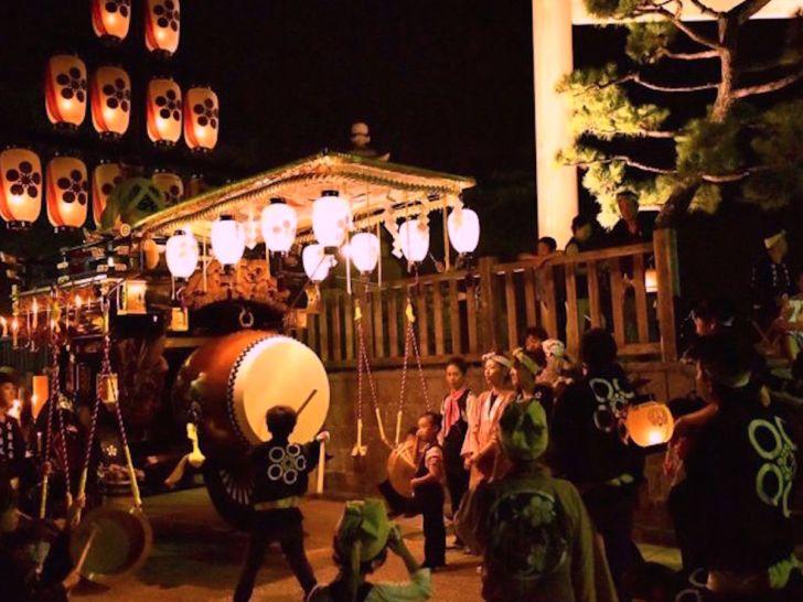 桑名石取祭の祭車行事