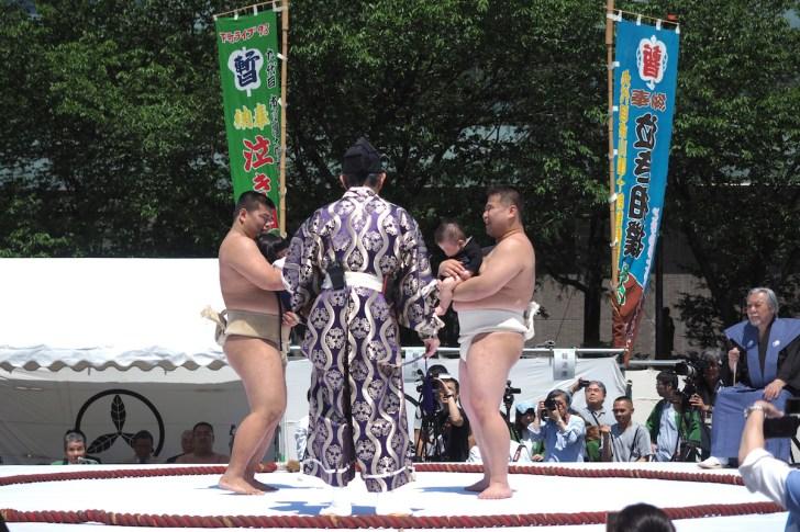 九代目市川團十郎「暫」復元記念 泣き相撲