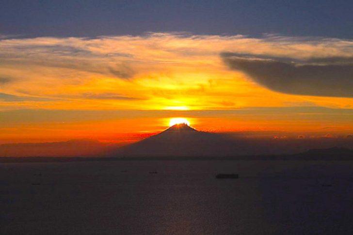 ダイヤモンド富士・鋸山山頂