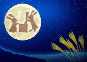 月とウサギとススキ