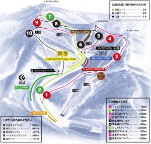 川場スキー場ゲレンデマップ