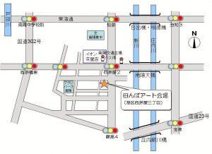 田んぼアート南陽MAP